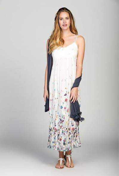 Myrine Amele Ankle Dress with pretty floral print available at Colmers Hill Fashion