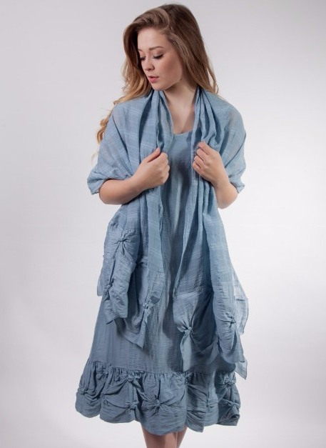 Out of Xile Reversible Dress in Marine Blue from Colmers Hill Fashion