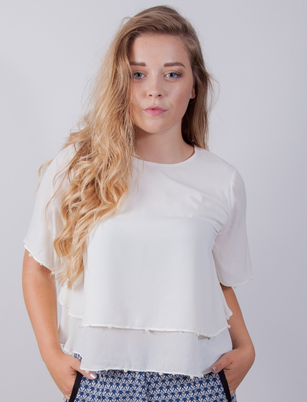Darling Dion Top in ivory available at Colmers Hill Fashion