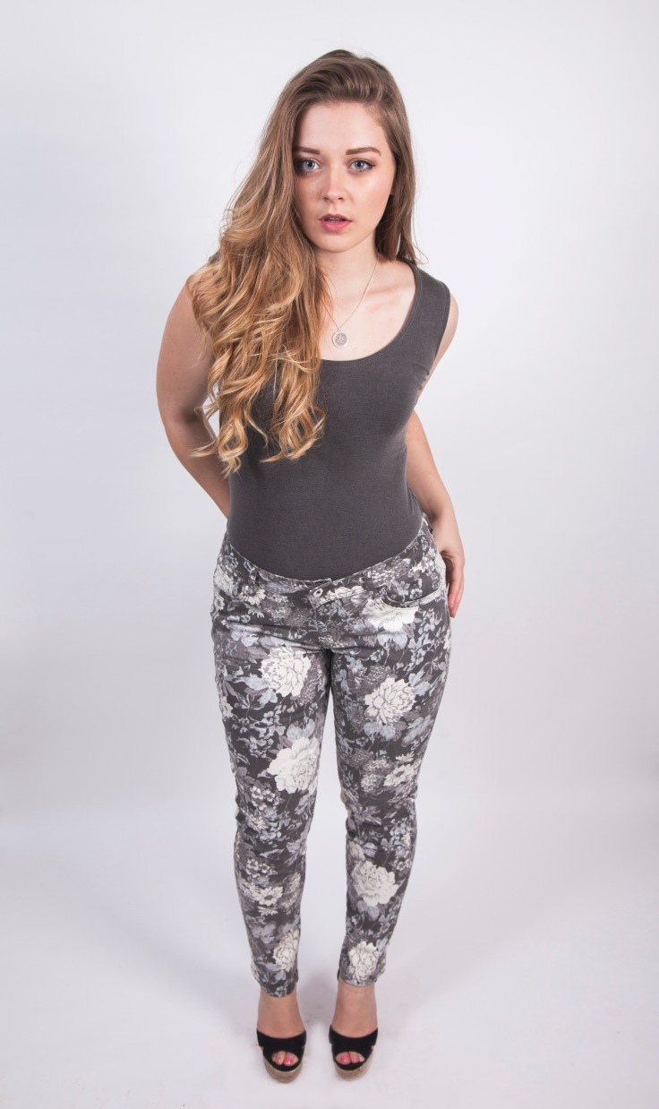 Floral print stretch mid-rise jeans available at Colmers Hill Fashion £45