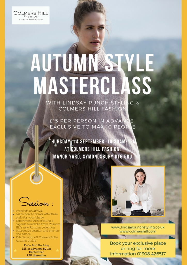 Autumn Style Masterclass at Colmers Hill Fashion with stylist Lindsay Punch