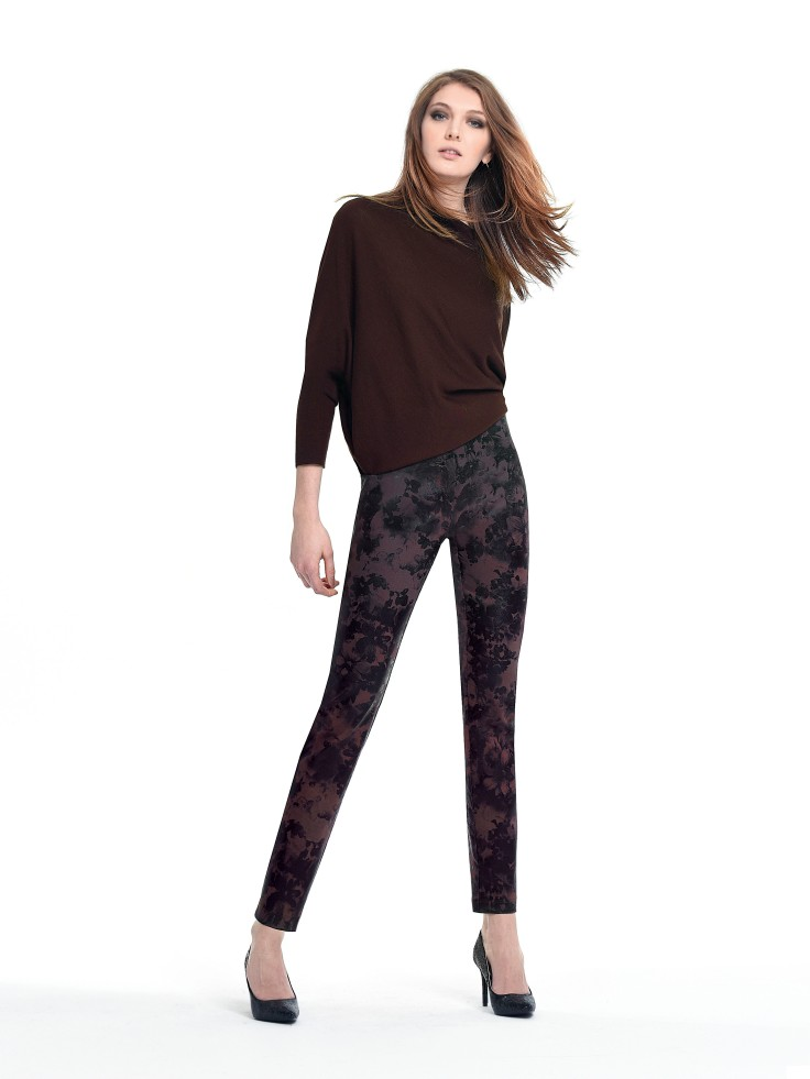 Robell printed trousers available in black or aubergine £75 available on www.colmershill.com
